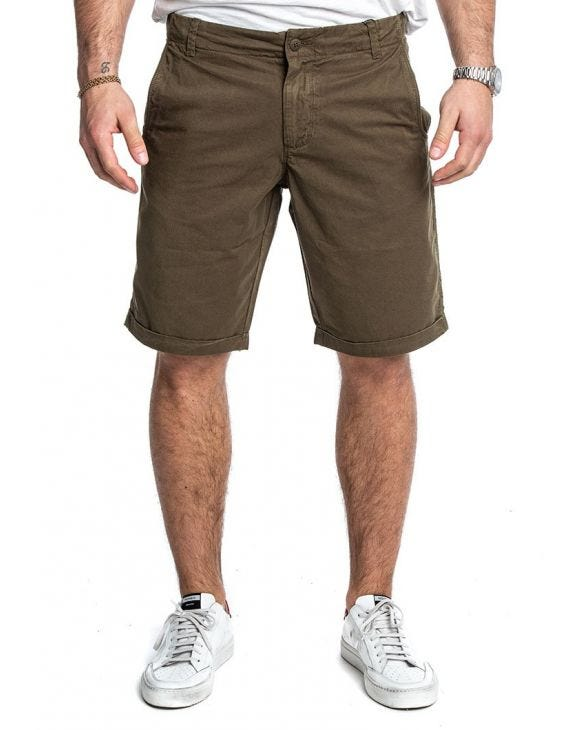 CLASSIC TWIL GD SHORTS IN DUNKELGRÜN