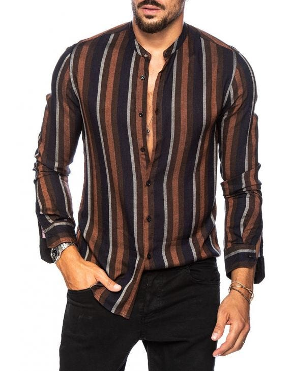 KENT STRIPED SHIRT IN BLUE