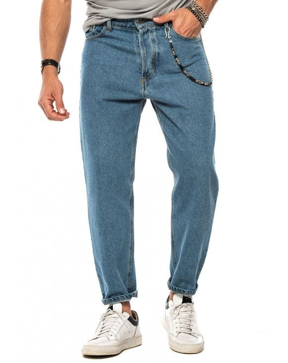 HECTOR STRAIGHT JEANS BLU