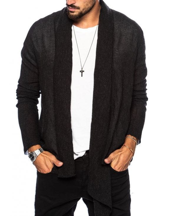 KNOX CARDIGAN IN ANTHRACITE