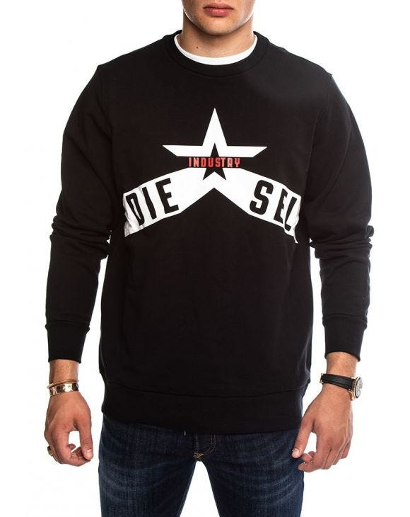 S-GIR-A2 SWEATSHIRT IN BLACK