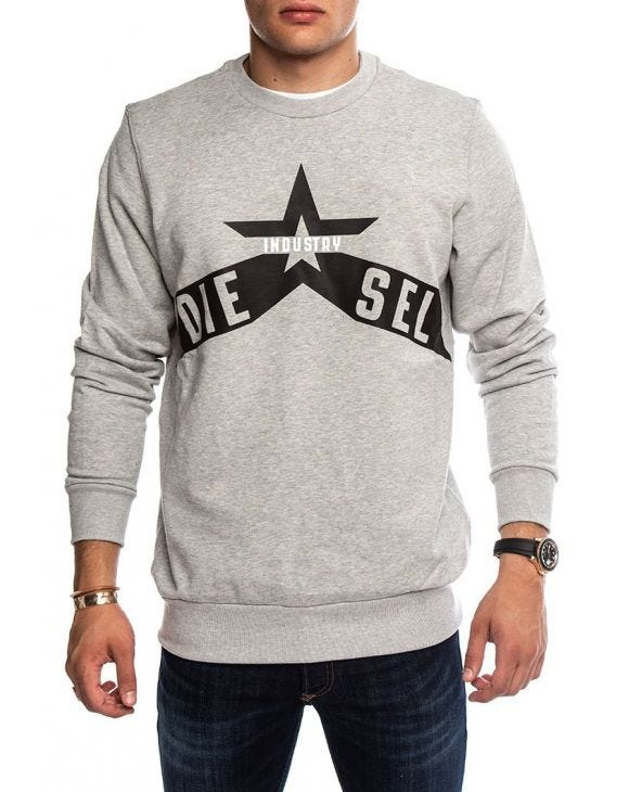 S-GIR-A2 SWEATSHIRT IN GREY