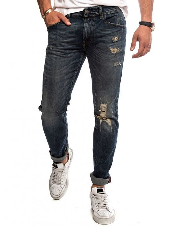 THOMMER L.32 STRAIGHT JEANS IN DARK BLUE
