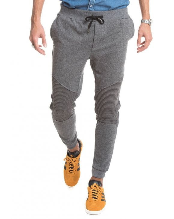 JOGGER WITH ZIP IN GREY