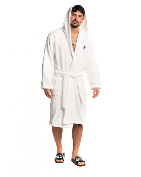 EA7 BATHROBE IN WHITE