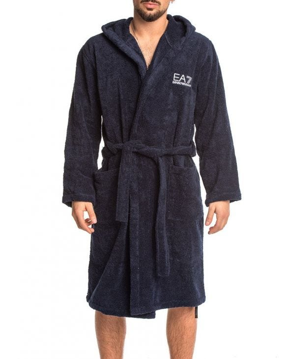 EA7 BATHROBE IN BLUE