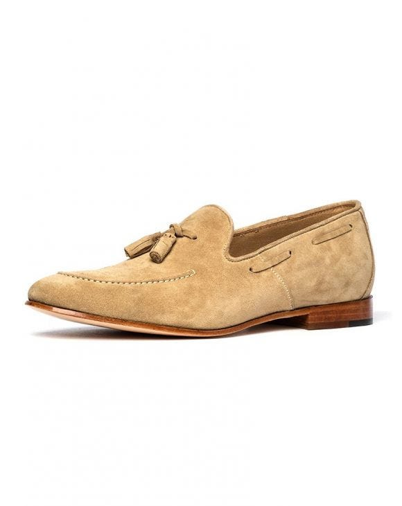 DONATELLO MOCASSINS EN CUIR BEIGE