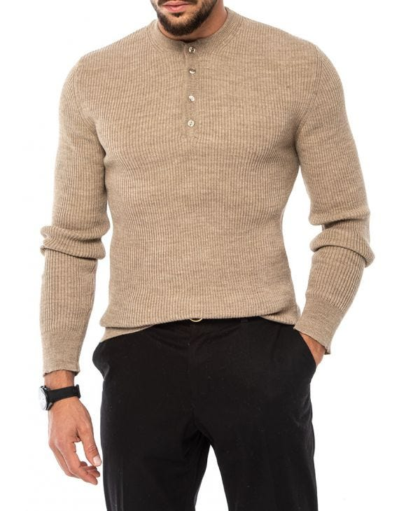 ADAM PULLOVER IN BEIGE