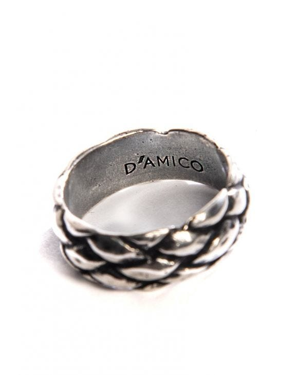 D'AMICO WOVEN RING IN SILVER