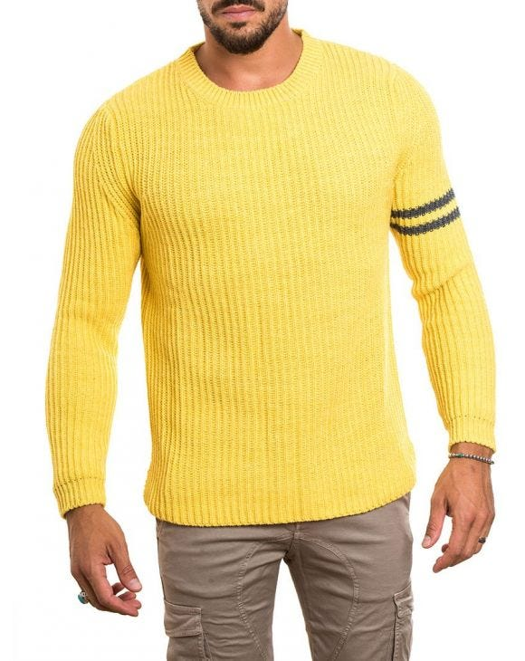 RIBBED SWEATER IN YELLOW