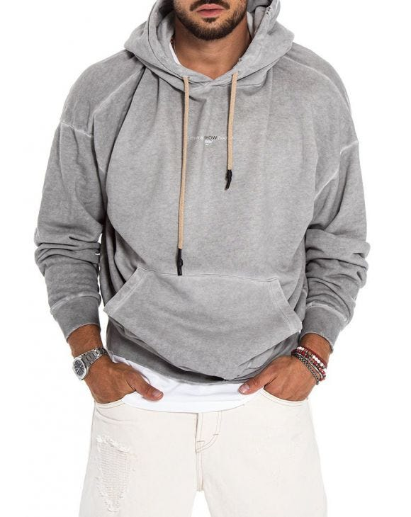 GAVIN LMTD SWEAT À CAPUCHE GRIS CLAIR