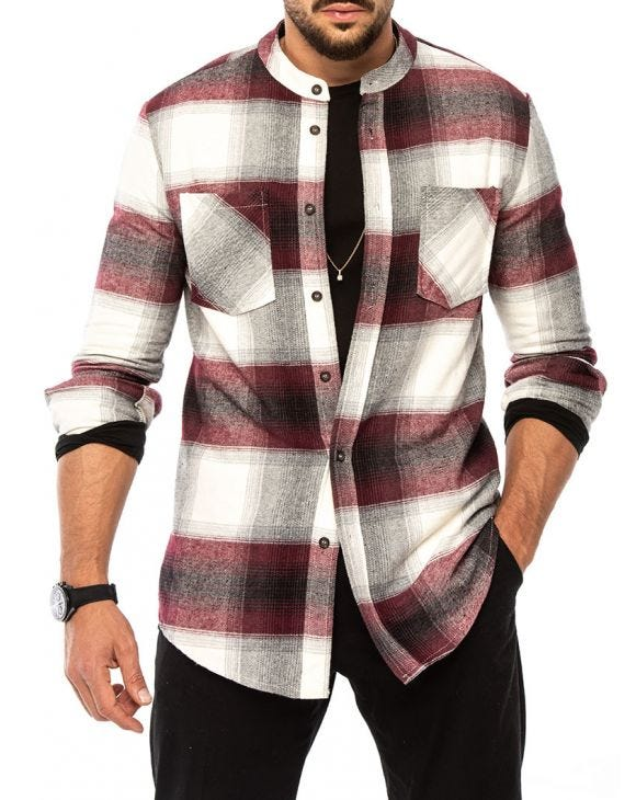 BRENT CHECKED SHIRT IN RED