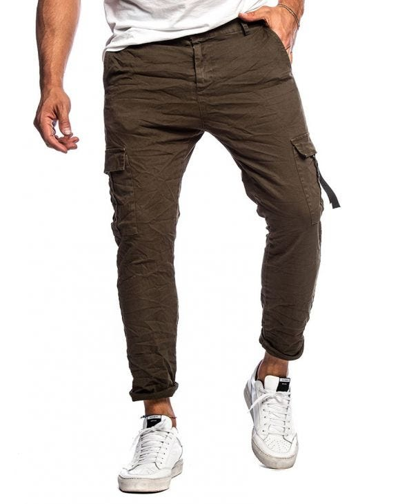 NILES CARGO PANTS IN GREEN