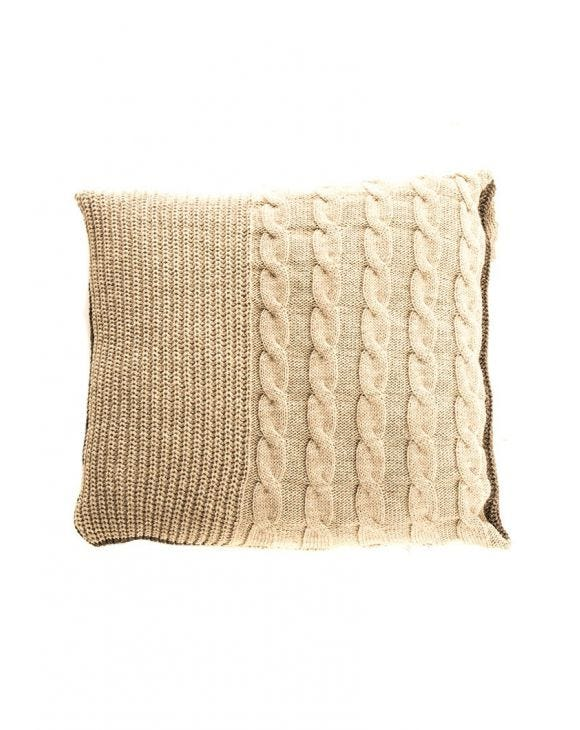 CHUNKY KNIT PILLOW IN DOVE