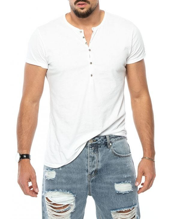 LUCAS HENLEY T-SHIRT IN WHITE