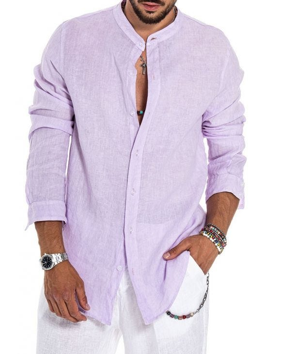 DELON CASUAL SHIRT IN LILAC