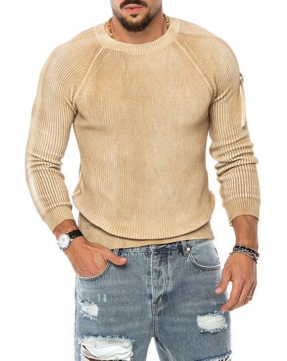 CURT WOOL SWEATER IN SAND