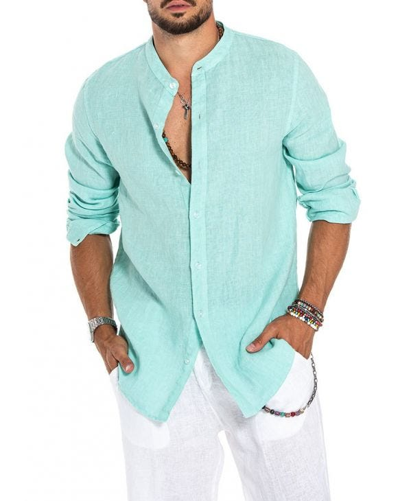 DELON CASUAL SHIRT IN MINT