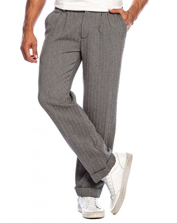 CONNOR FORMAL PANTS IN HERRINGBONE