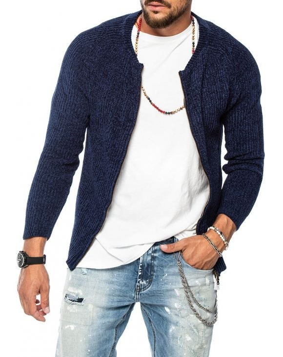 SAINT PAUL CARDIGAN AZUL