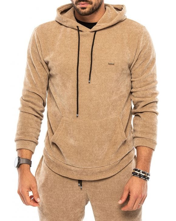 BUD SWEATSHIRT IN CAMEL