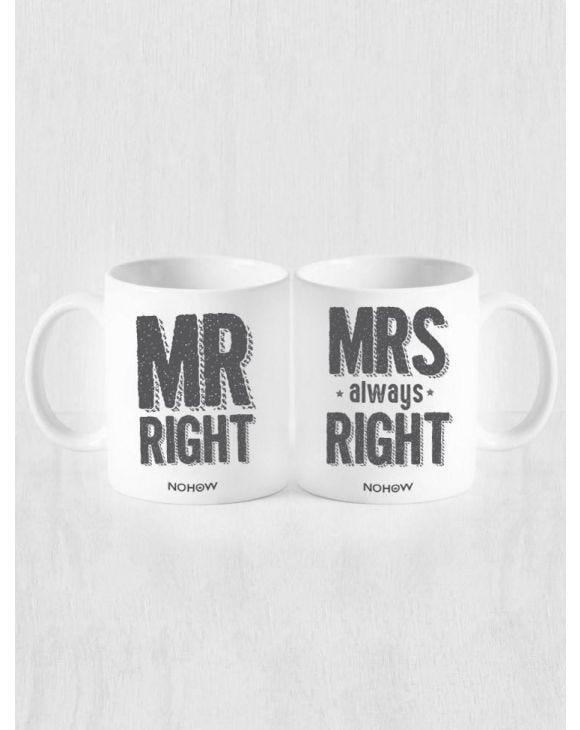 TASSES MR RIGHT AND MRS ALWAYS RIGHT