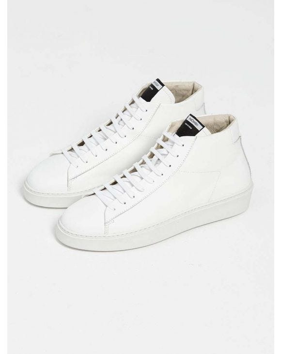 007 HIGH SNEAKERS IN TOTAL WHITE