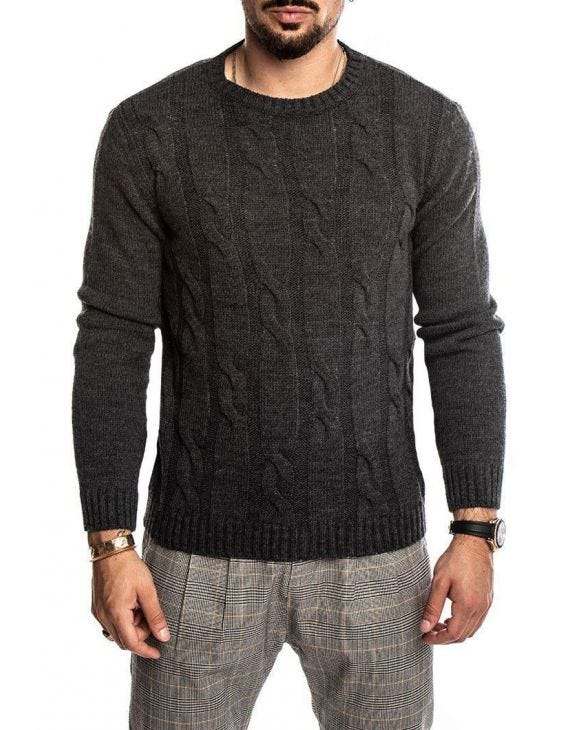 QUILO CREWNECK SWEATER IN GREY