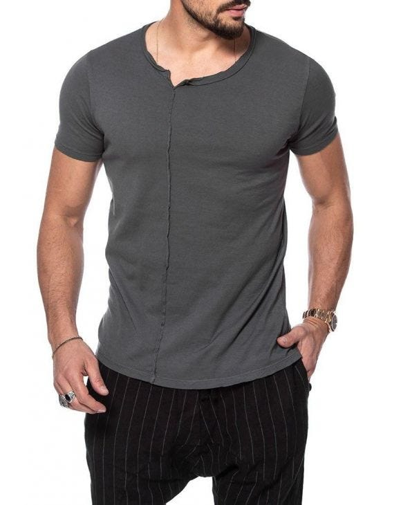 TREVOR BASIC T-SHIRT IN GREY