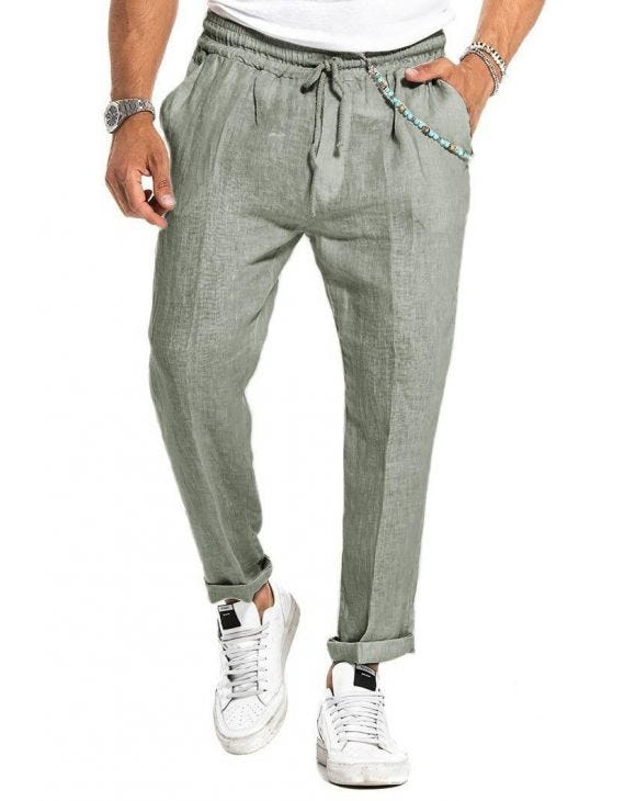 LIONEL CASUAL PANTS IN GREEN