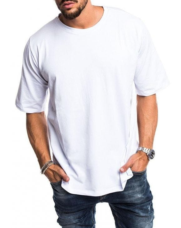 LOGAN OVERSIZED T-SHIRT IN WHITE