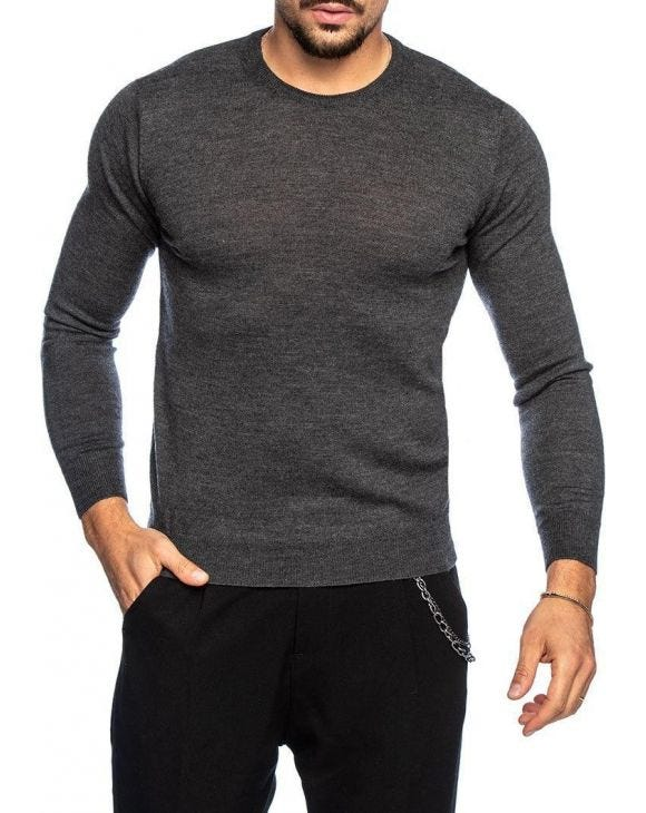 KOROS PULLOVER IN ANTHRAZIT