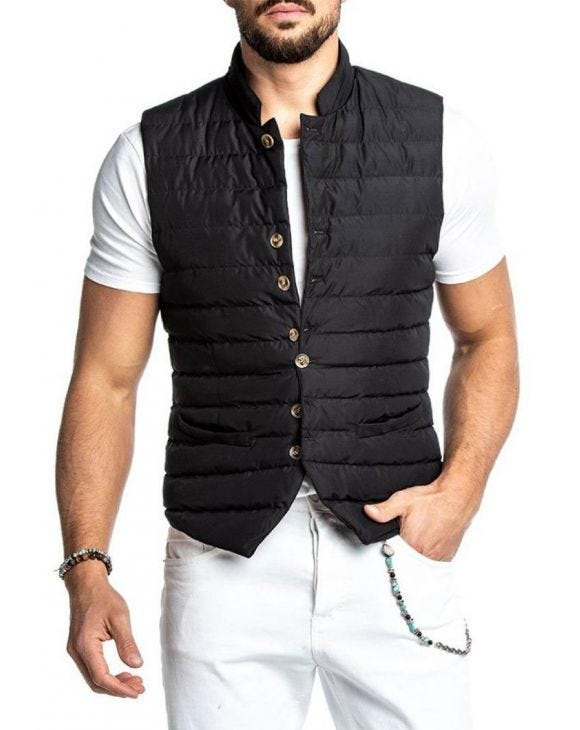 LEWIS VEST IN BLACK