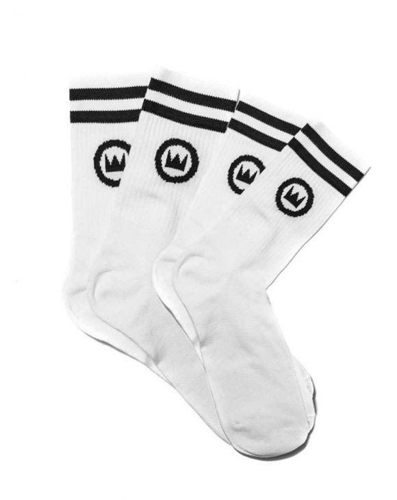NOHOW 2PACK SOCKS IN WHITE