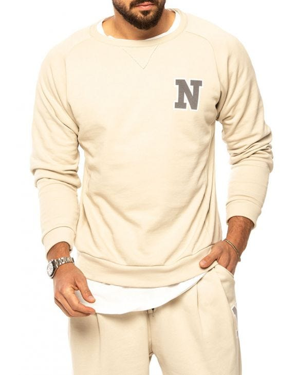 MARCUS SWEATSHIRT IN BEIGE