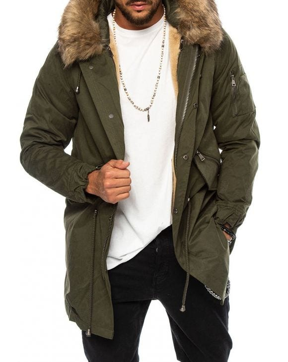 GREAT ICE PARKA IN MILITARY GREEN
