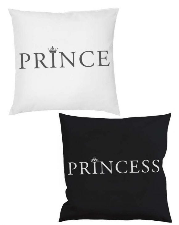 PRINCE AND PRINCESS PILLOWS