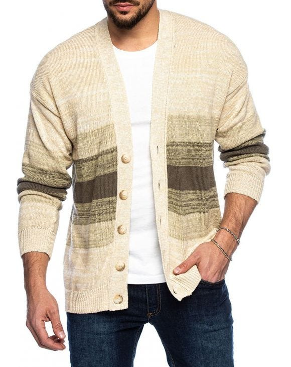 HOANI STRICKJACKE IN CREME