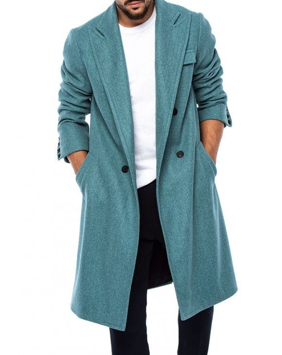 ANTWAN COAT IN GREEN CERULEO