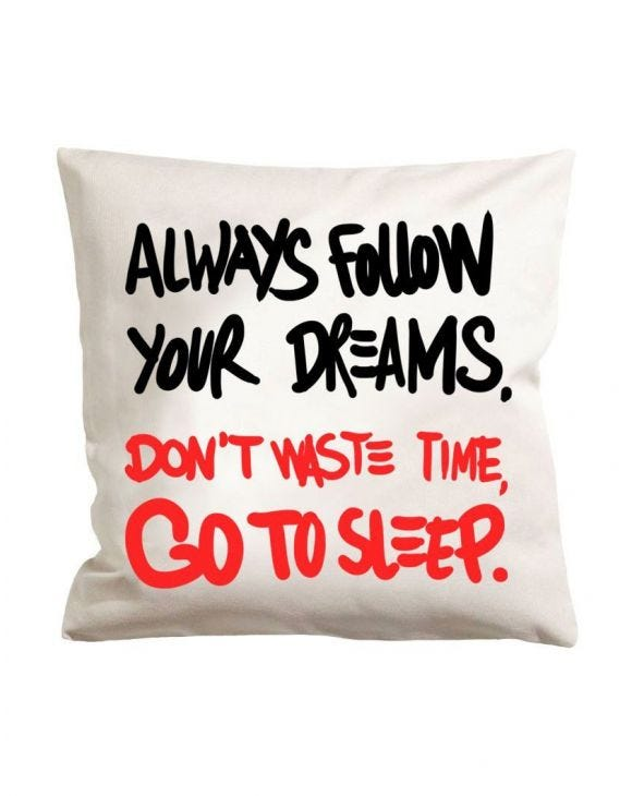 GO TO SLEEP WHITE PILLOW