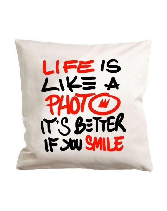 SMILE WHITE PILLOW
