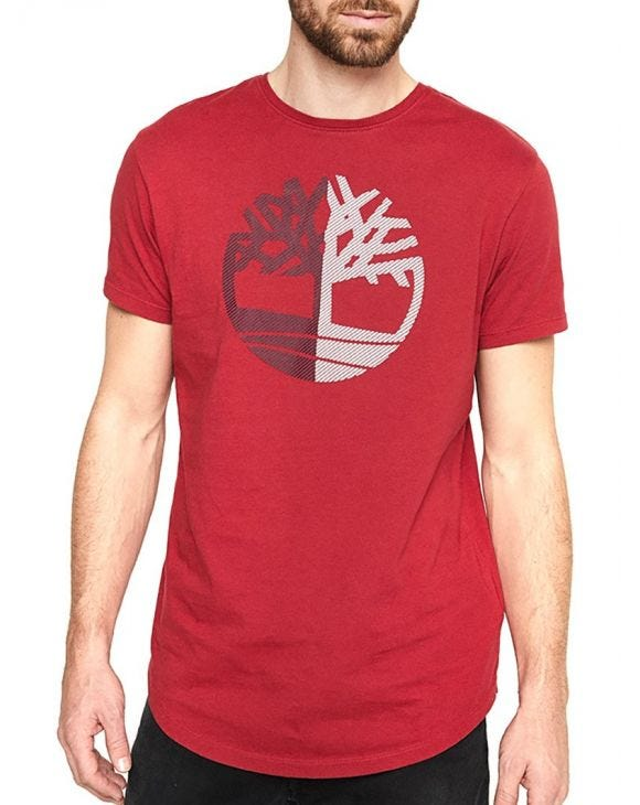 SS LARGE SILCONE TREE TEE IN BORDEAUX