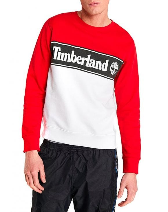 YCC SWEATSHIRT BARBADOS IN CHERRY AND WHITE