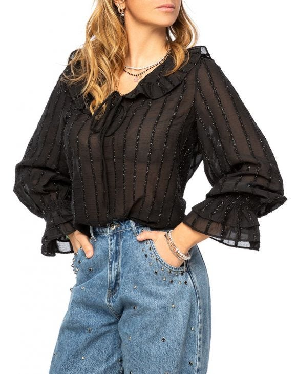 JULIA CASUAL SHIRT IN BLACK
